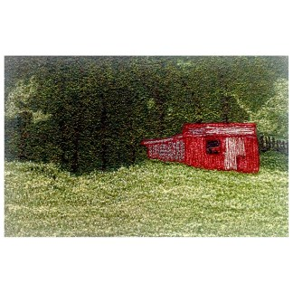 The Shed - Freehand machine embroidery by Tamara Russell – Karhina.com
