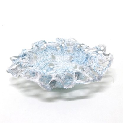 Elements bowls are inspired by the colours of the elements created in sculptural machine embroidery form.