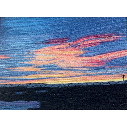 Canberra Sunset - Freehand machine embroidery by Tamara Russell – Karhina.com