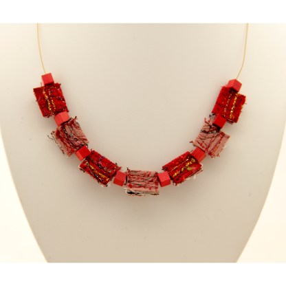 Reborn necklace from reclaimed and upcycled materials - karhina.com