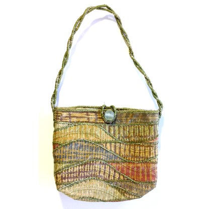 Upcycled evening bag - fields