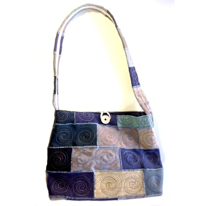 Upcycled handbag - Cyclone