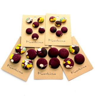 Vintage Silk Covered Buttons by Karhina.com