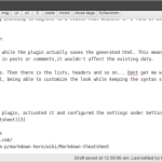 Markdown in wordpress
