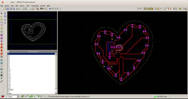 LED twinkle PCB layout