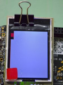 lcd display of the image