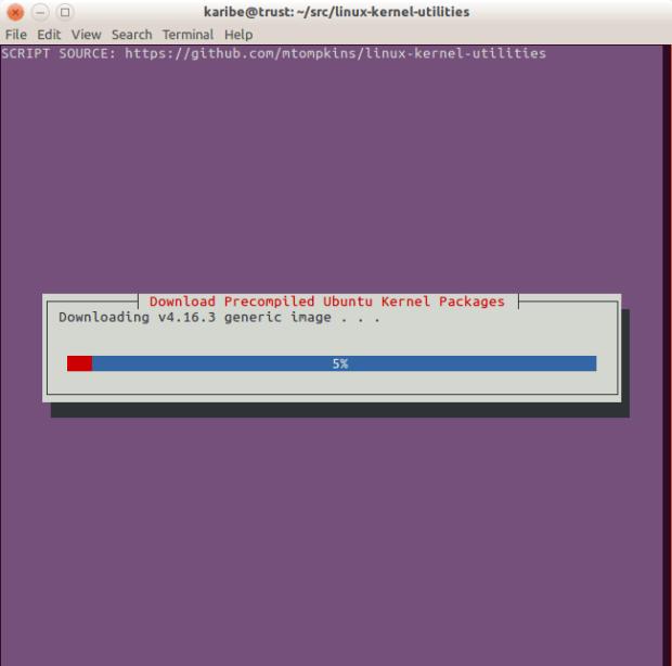 Progress of kernel image download