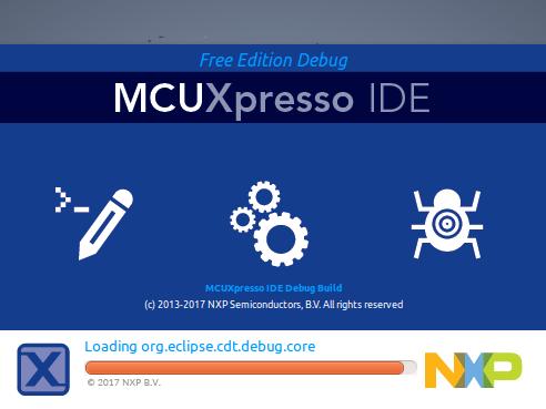 MCUXpressoIDE splash screen