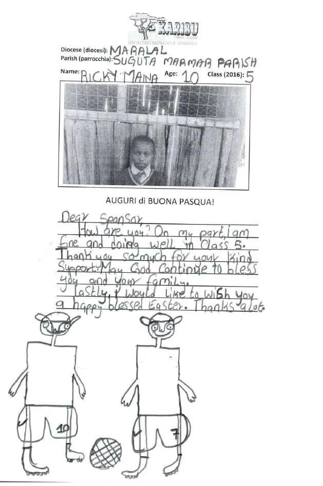 adozioni scolastiche a distanza bambini cartolina