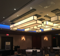 Unique lighting in Delta Downtown Toronto event space