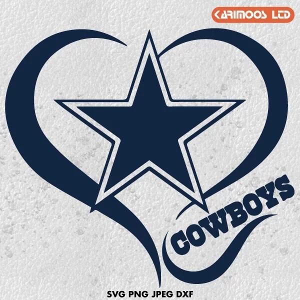 Download Dallas Cowboys Heart Love SVG | Karimoos