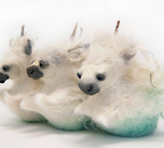 Mythical Magical Sea Horse sculptures by Karina Kalvaitis