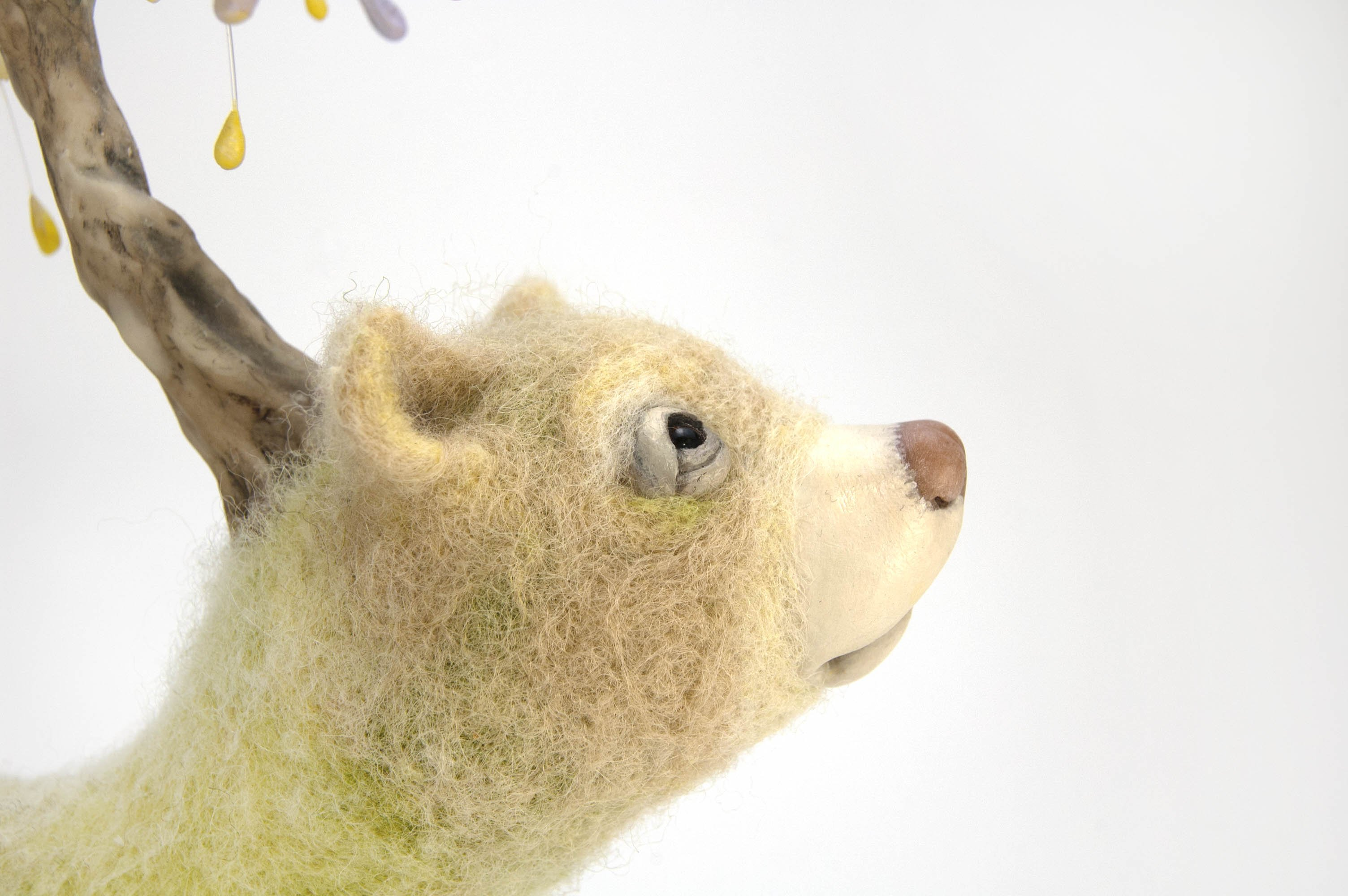 needle felted bear neosurreal