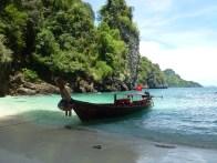 Lunch break from climbing in a hidden beach miles from shore - Karina Noriega