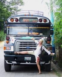 Chicken Bus Casualty, Atitlan, Guatemala -- Karina Noriega