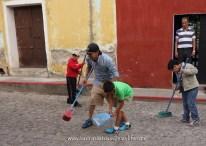 Teacher Alejandro leads by example. Antigua, Guatemala -- Karina Noriega