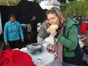 Devouring some street food during Semana Santa. Antigua, Guatemala --Karina Noriega