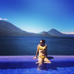 The most beautiful lake in the world, Lago de Atitlan, Guatemala -- April Beresford