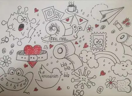 Lief dagboek 9: Doodelen en snailmail