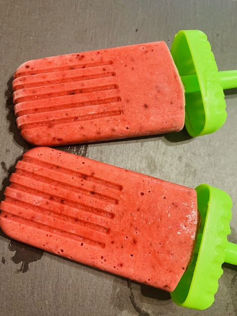 Berry Smoothie Popsicles