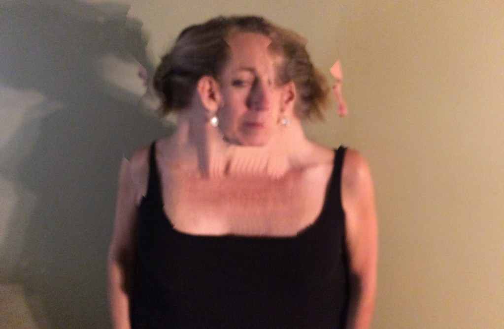 Speak Up Glitch Art Self-Portrait