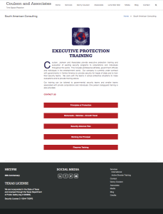 Coulson and Associates Services Page