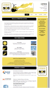 Ceres Wind and Solar Web Front Page