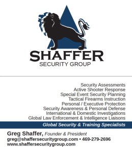 Shaffer Security Group Business Card