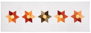 Hexi-Flowers Table Runner