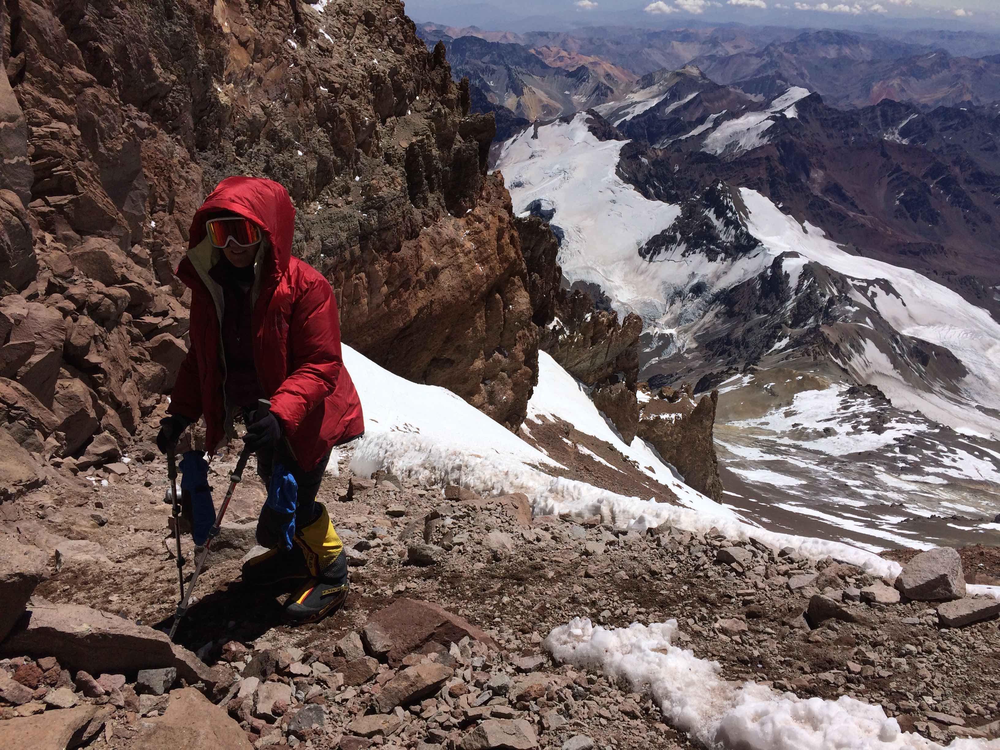 Karin on Aconcagua via the 360 route