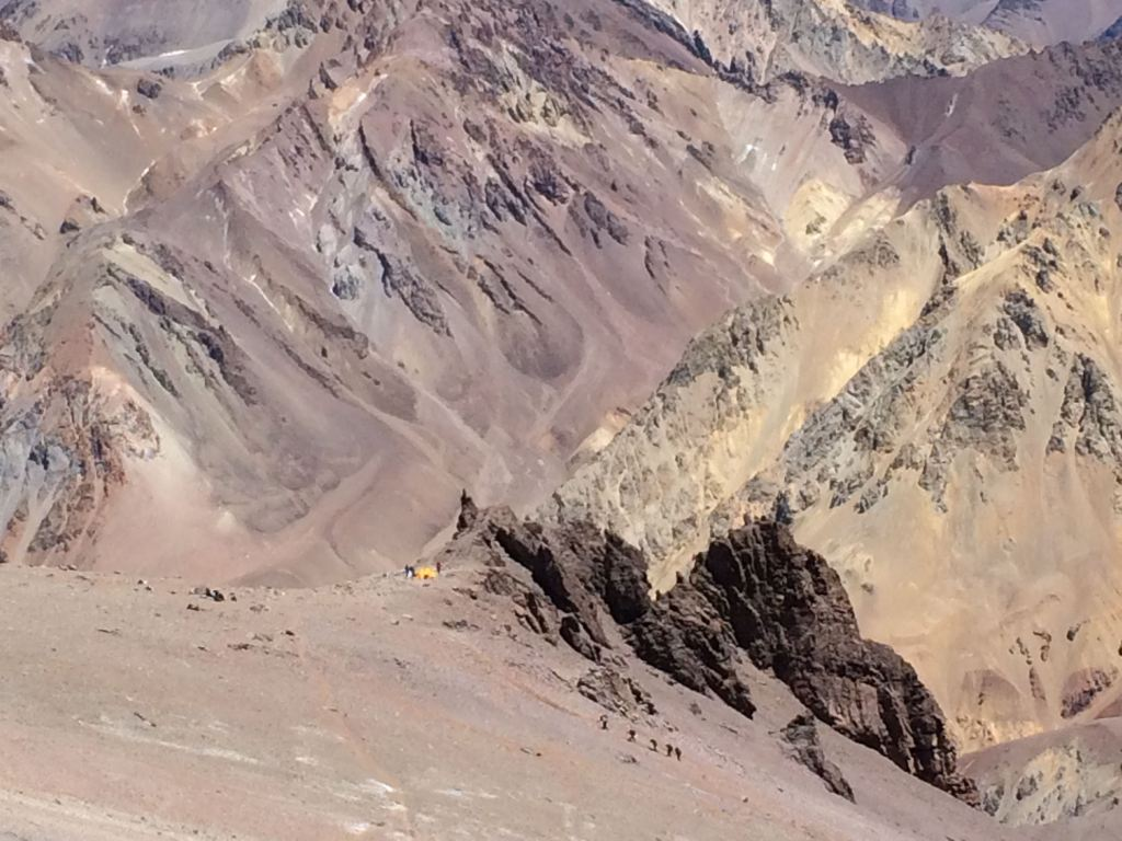 Hike down from camp 3 on Aconcagua