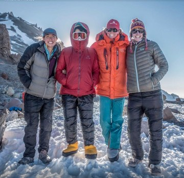 4 climbers on Aconcagua via the 360 route
