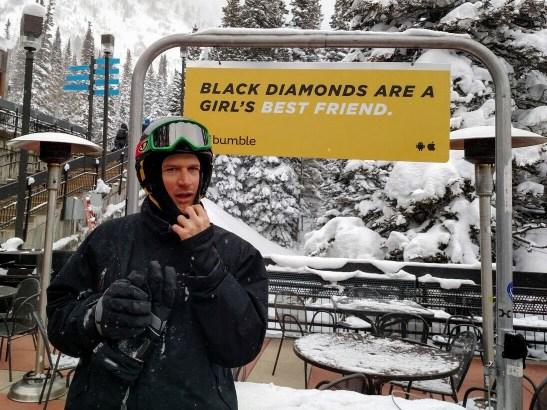 Black diamonds och han där i förgrunden...