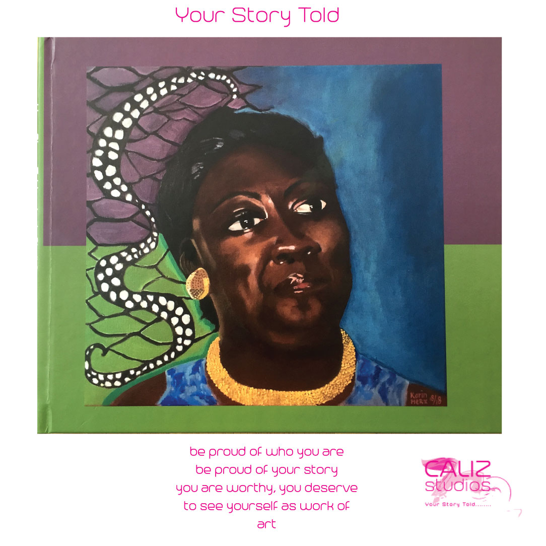 Caliz Studios   Painting Portraits as a story. Create art from your story in a beautiful book