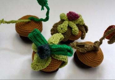 Crocheted poisonous plants