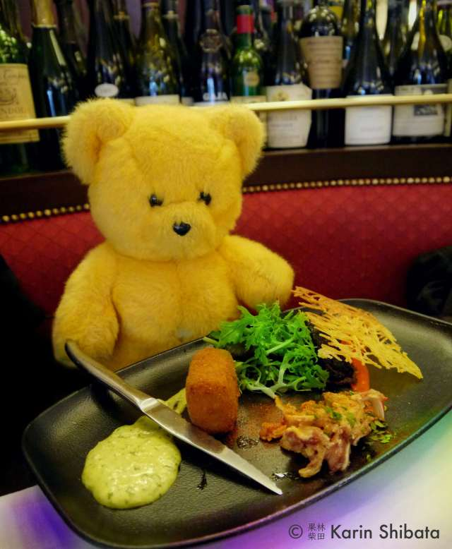 monsieur kodak bear petit sommelier paris