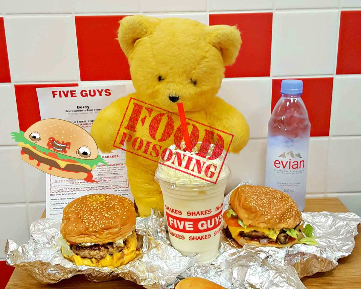 Five Guys Paris Bercy | Zero guy when you get food poisoning