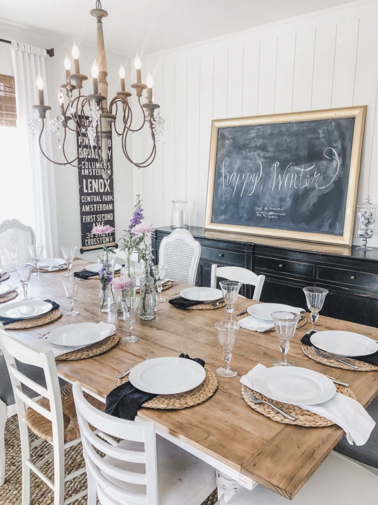 My top 10 popular posts of 2020 on Karins Kottage- Easy DIY planked Dining Room Table top