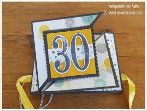 Geldgeschenk Karte.Geldgeschenk Karte Zum 30 Geburtstag Karin S Kreativkiste