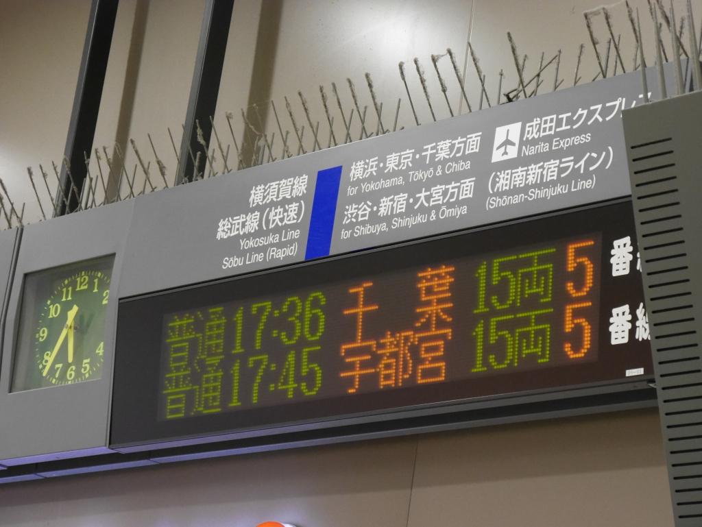 17時45分発となる新宿湘南ライン宇都宮行きに乗車