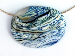 """Summer Seas"" Recycled glass pendant"