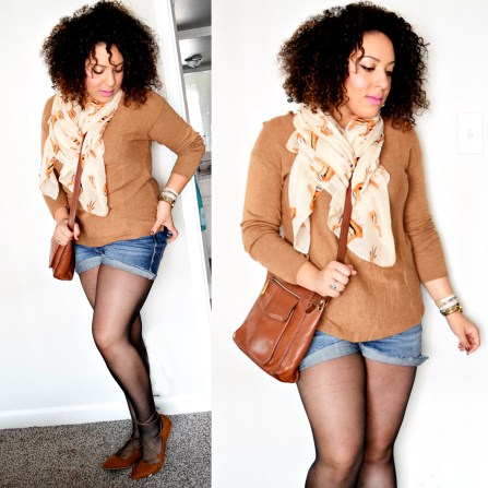 """6 Ways To Wear Shorts This Fall"" OUTFIT DETAILS: https://thehoneygoldguru.com/2016/10/12/6-ways-to-wear-shorts-this-fall/"
