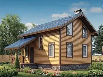План каркасного дома 6 на 7, фото и цена строительства