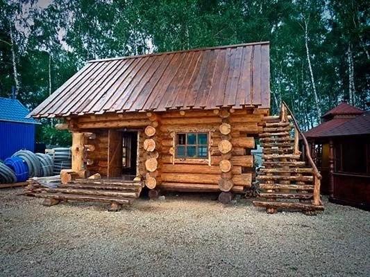 Строительство деревянных бань под ключ из бревна и бруса в ...