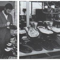 Karl Immervoll in einer Schuhwerkstatt