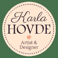 Karla Hovde. Artist and Designer. This is the logo of Karla Hovde