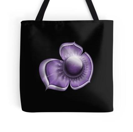 purple tote large