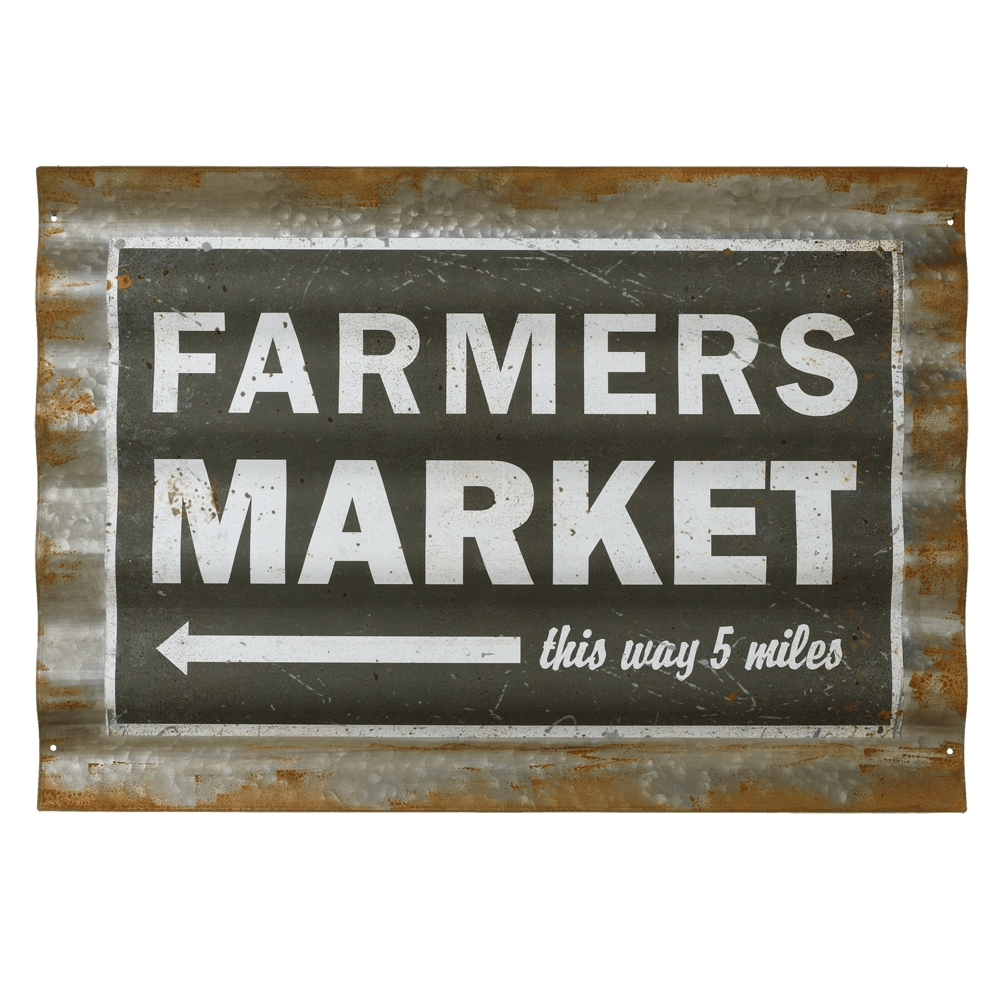Corrugated Farmhouse Sign