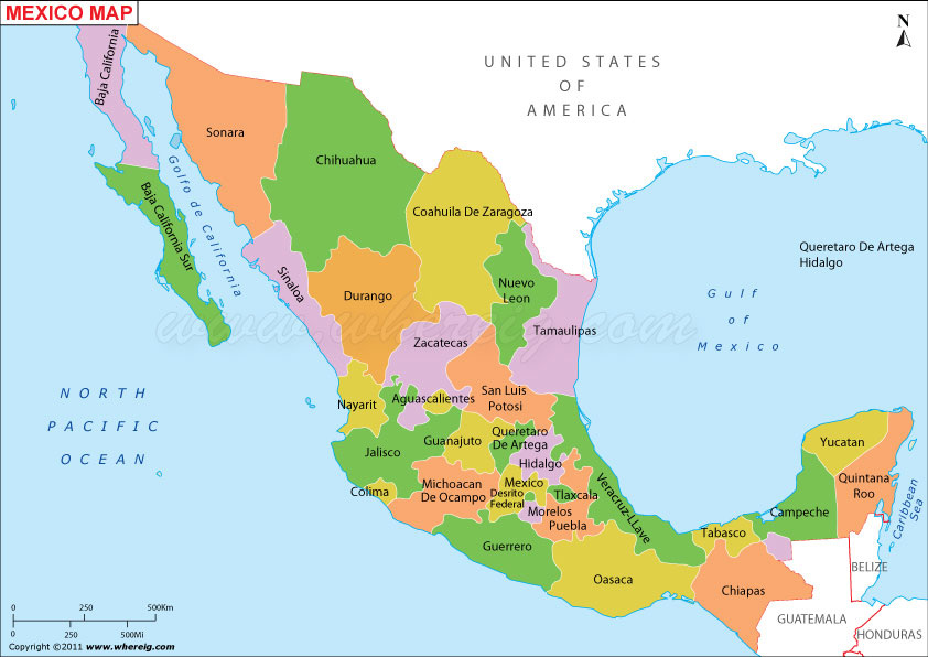 Mexico Mexican Plateau Map