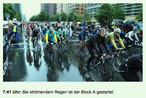 Velothon Berlin 2014 rainy start